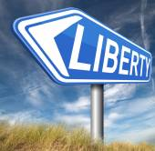 Liberty sign — Stock Photo