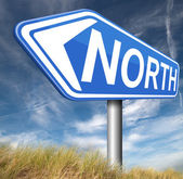 North sign — Stock Photo