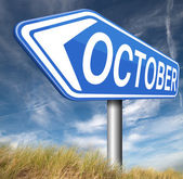 October next fall month — Foto de Stock