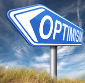 Optimist sign — Stockfoto