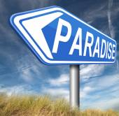 Paradise sign — Stock Photo