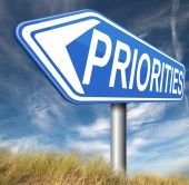 Priorities sign — Stock Photo