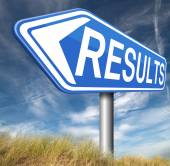 Results sign — Stock Photo