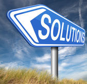 Solutions to solve problems — Zdjęcie stockowe