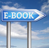 E-book sign — Stock Photo