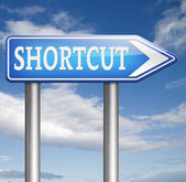 Shortcut sign — Stock Photo