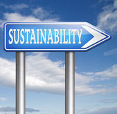 Sustainability road sign — Stockfoto