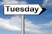 Tuesday sign — Stock Photo