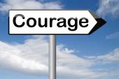 Fearless and courage sign — Stock Photo