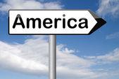 America road sign — Stock Photo