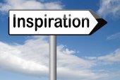 Inspiration sign — Stock Photo