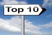 Top 10 charts — Stock Photo