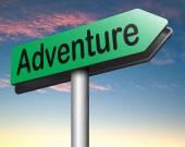 Adventure sign — Stock Photo