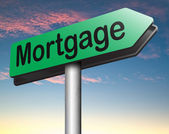 Mortgage house loan paying money — Stock Photo