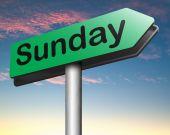 Sunday road sign — Stock Photo