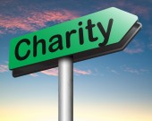 Donate Charity sign — Stock Photo