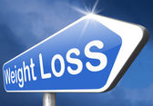 Weight loss sign — Stock Photo