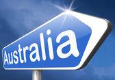 Australia sign — Stock Photo