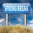 Spring break sign — Stock Photo #63302055