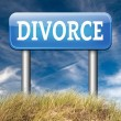 Divorce road sign — Stock Photo #63303931