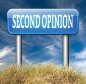 Second opinion sign — Stock Photo