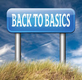 Back to basics sign — Stock Photo