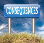 Consequences facing facts — Stock Photo