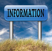 Information sign banner — Stock Photo