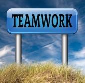Teamwork coorporation sign — Stock Photo
