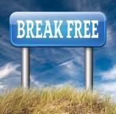 Break free sign — Stock Photo