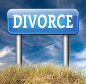 Divorce road sign — Stock Photo