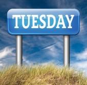 Dinsdag week volgende — Stockfoto