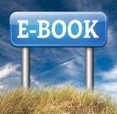Ebook downloading online sign — Stok fotoğraf