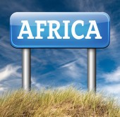 Africa road sign — Stock Photo