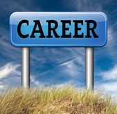 Career move sign — Stock Photo