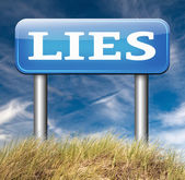 Telling lies sign — Stock Photo