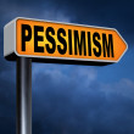 Pessimism road sign — Stock Photo #63931201
