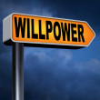 Will power sign — Stock Photo #63931459