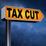 Tax cut sign — Stock Photo #63931493