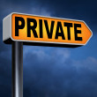 Private information sign — Stock Photo #63933239