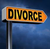 Divorce papers sign — Stock Photo