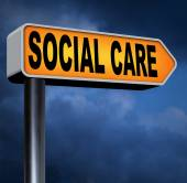 Social care sign — Stock Photo