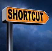 Shortcut road sign — Stock Photo