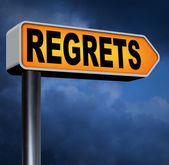 Regret or no regrets — Stock Photo