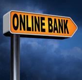 Online banka işareti — Stok fotoğraf