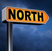 北道路标志 — 图库照片