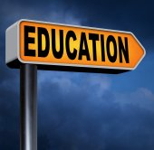 Education road sign — Stock Photo