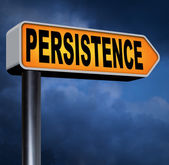 Persistence road sign — Stock Photo