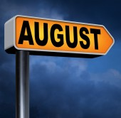 Next  August sign — Stock Photo