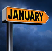 January first month of next year — Stock Photo